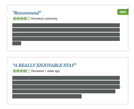 Sample reviews of satisfied TripAdvisor customers